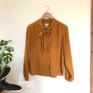 Frank and Oak Bow Blouse
